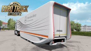 This is review about Euro Truck Simulator 2 Mods ====================================================== Mods: MB AeroDynamic Trailer by AmirMahdavi https://forum.scssoft.com/viewtopic.php?f=36&t=268003  JBX Graphics – Complete Package (10-1-2019) by JuanB