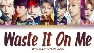 BTS & STEVE AOKI - 'WASTE IT ON ME' LYRICS (Color Coded)