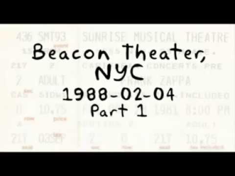 Frank Zappa 1988 02 04 Beacon Theatre Part 1