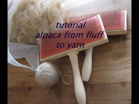tutorial how to get alpaca from fluff to yarn