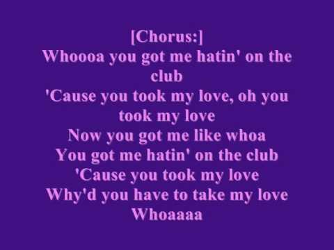 Rihanna-Hatin' on the club lyrics