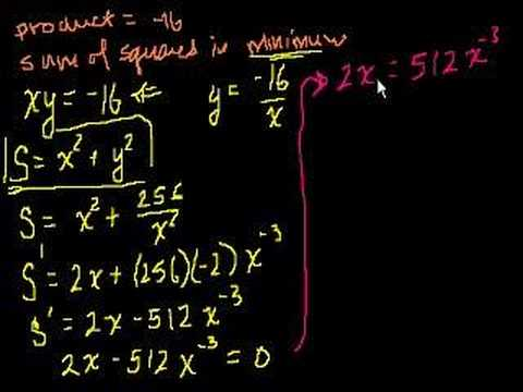 Optimization with Calculus 1