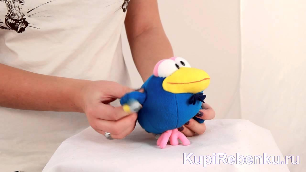 Смешарики Мягкая игрушка Кар-Карыч с тростью - YouTube