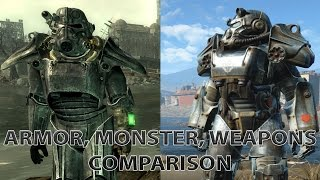 Fallout 3 vs Fallout 4 Comparison Armor, Monsters, Weapons