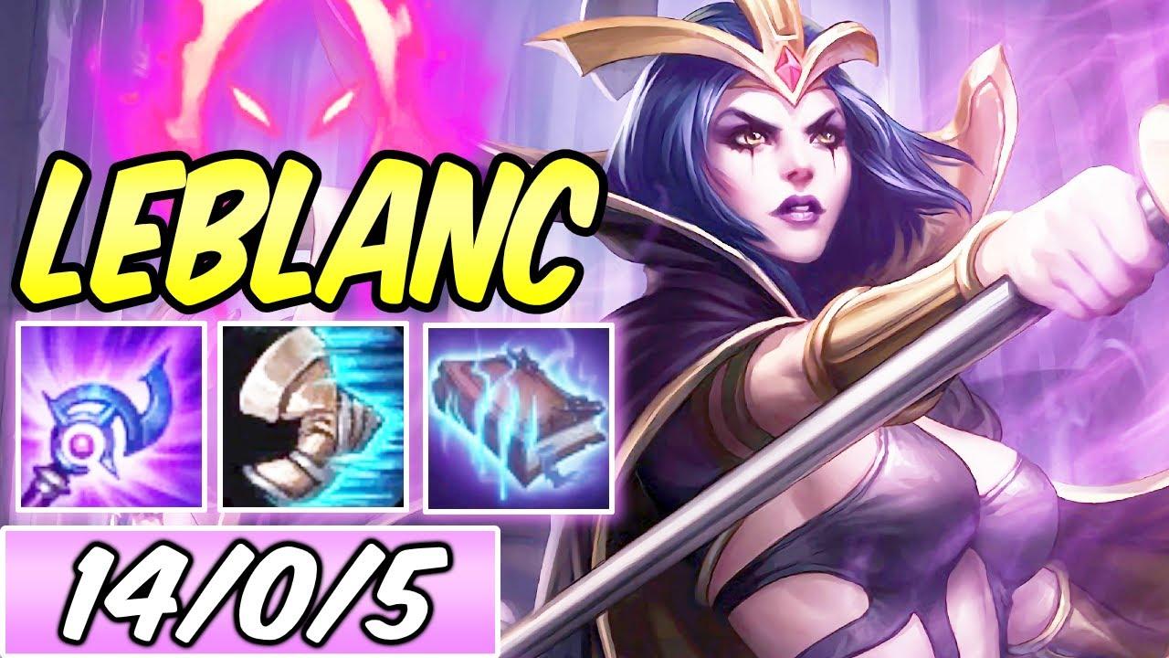 S Leblanc Mid Full Ap Burst Dark Harvest Magic Pen Best Build Runes League Of Legends Youtube