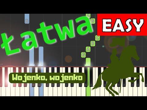 🎹 Wojenko, Wojenko - Piano Tutorial (łatwa wersja) 🎹