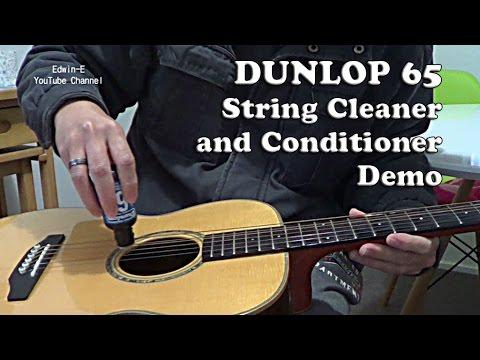 Dunlop 65 String Cleaner and Conditioner Test Demo on Ashton OM35S guitar