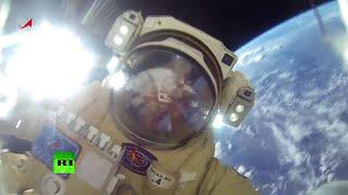 GoPro: Cosmonautas rusos salen de la EEI al espacio abierto