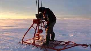 Commercial Ice Fishing   Setting Nets