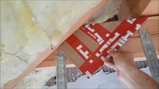 Montaż wełny pomiędzy jętkami - okładzina sufitu