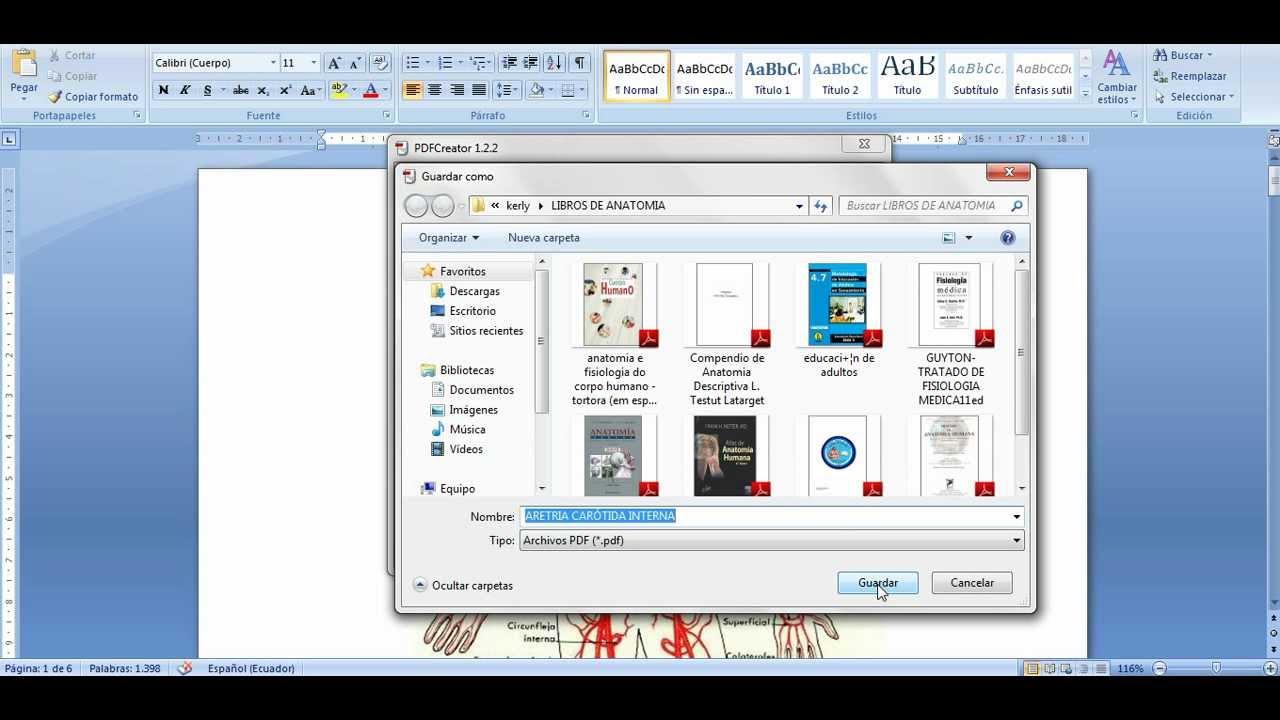 c u00f3mo convertir un archivo de word a pdf con pdf creator en win 7