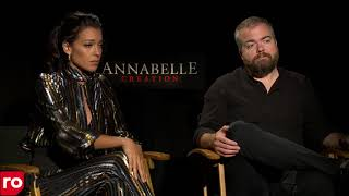 Annabelle 2 Interview with Stephanie Sigman & David Sandberg