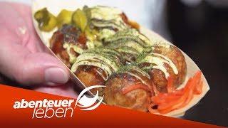Asiatische Food-Trends: Vom Sushi Donut bis zum Oktopus-Pfannenkuchen | Abenteuer Leben | kabel eins
