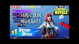 Fortnite Game play with fable skin