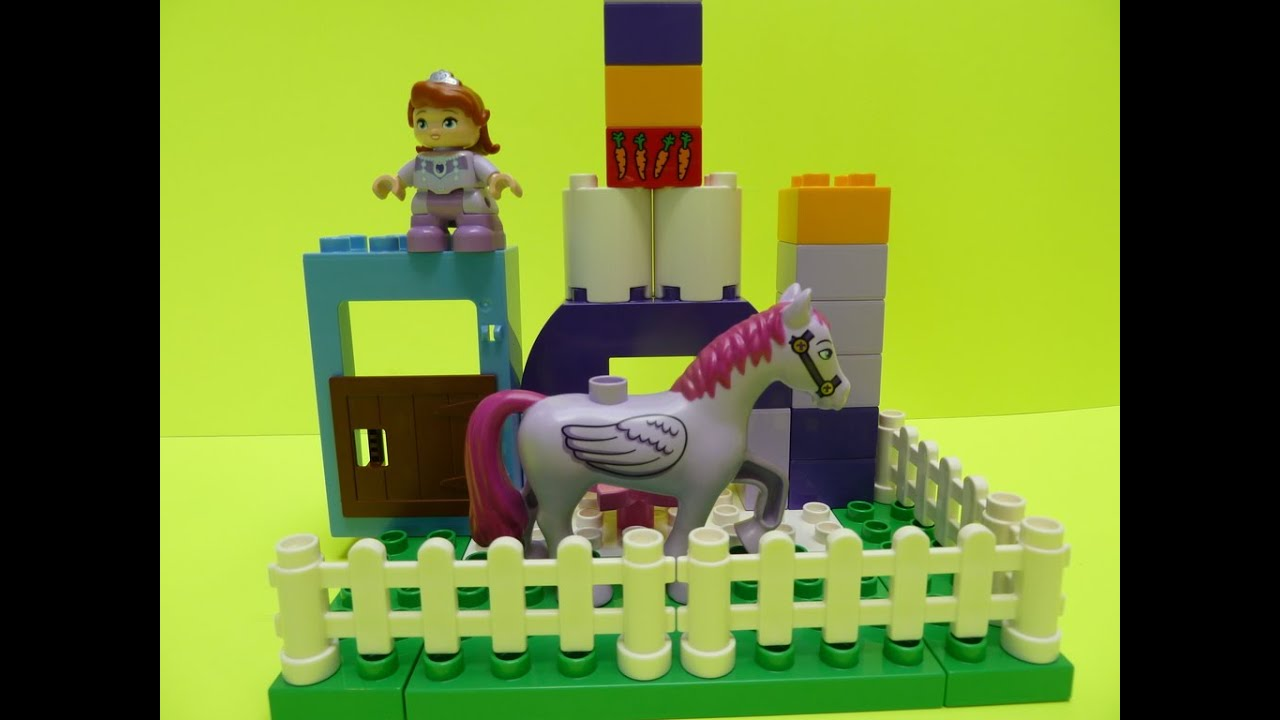 Lego Duplo Sofias Royal Stable With The Flying Horse Minimus From