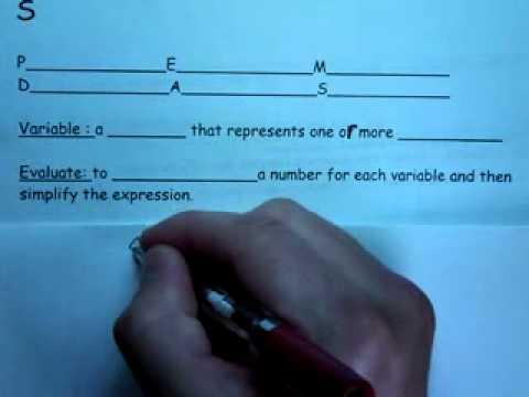 Algebra 2  8 20 2012 C  Definition of Evaluate