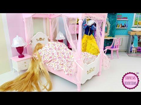 Rapunzel Rutina de la Mañana - Muñeca Dormitorio Princesas Disney