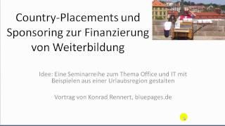 IT-Weiterbildung mit Placements einer Urlaubsregion finanzieren