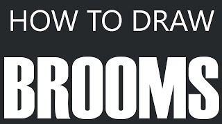 How To Draw A Broom - Dust Sweeper Push Broom Drawing (Sweep Brooms)