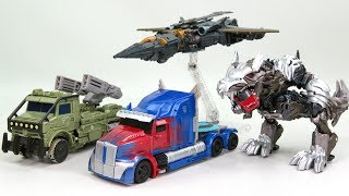 Transformers 5 2017 TLK Voyager Class Optimus Prime Megatron Hound Grimlock Car Dino Robots Toys