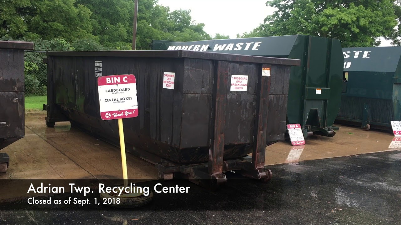 As recycling market drops, services shut down around Lenawee