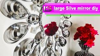DIY Mirror Decor | Large Silver Mirror DIY