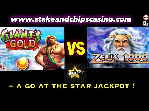 SLOTS - Giants Gold VS Zeus 1000 🚨 STARSPINS CASINO !!!