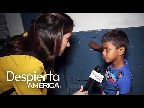 Niño de 8 años relata por qué salió de Honduras en la caravana migrante