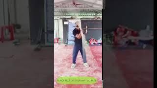 Black belt dojo of martial arts