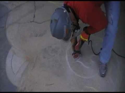 Concrete Engraving Amp Template Transfer Youtube