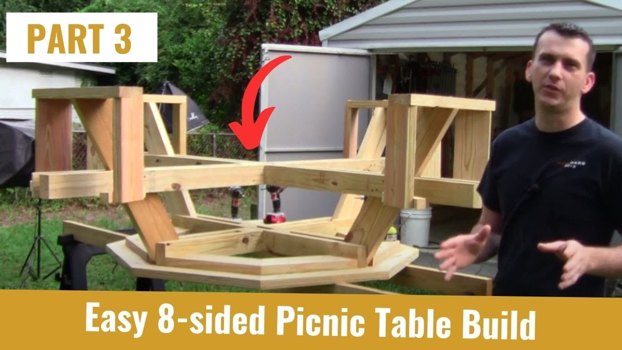 Build An Octagon Picnic Table Part YouTube - Picnic table parts