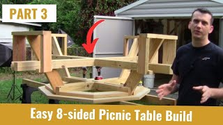 Build An Octagon Picnic Table Part 3