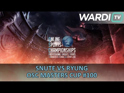 Snute vs Ryung (ZvT) - OSC Masters Cup #100 Playoffs