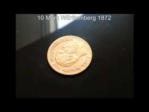 10 Mark Württemberg 1872