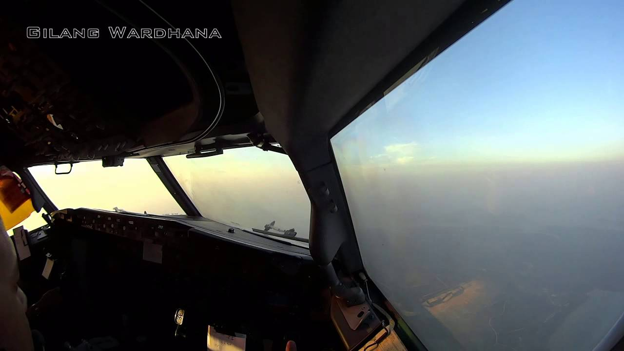 atc text sunset cockpit view gia156 jakarta batam single cam rh youtube com