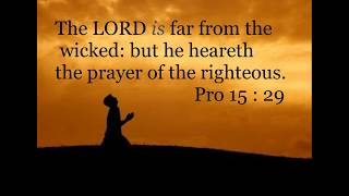 Take it to the LORD in prayer