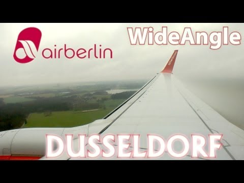 Düsseldorf Hard Landing - Great weather and CONDENSATION [HD 1080p]