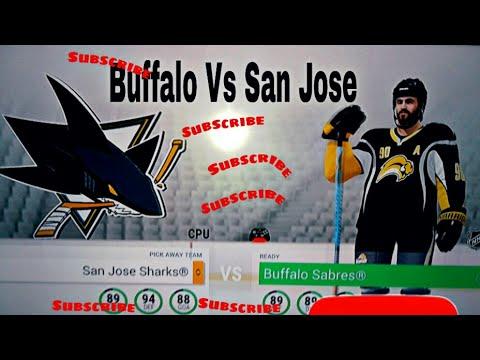 NHL 17 BUFFALO SABRES VS SAN JOSE SHARKS!!