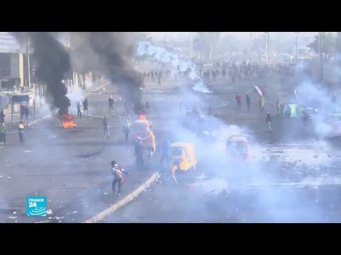 تجدد المواجهات وعمليات الكرّ والفرّ بين المتظاهرين وقوات الأمن في بغداد  - 17:00-2020 / 1 / 20