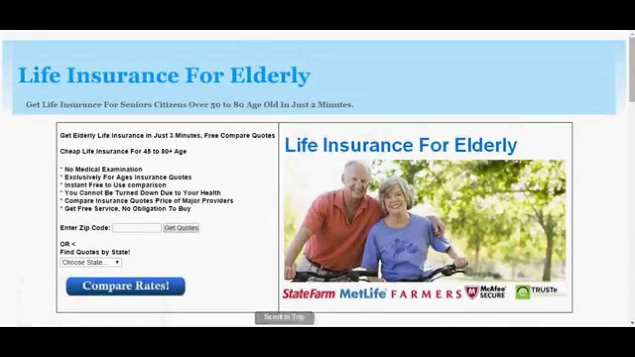 Life Insurance Quotes For Elderly Gorgeous Texas Life Insurance For Elderly With No Exam  Youtube