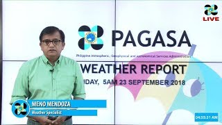 Public Weather Forecast Issued at 5:00 AM September 23, 2018