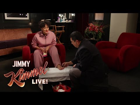 Guillermo Helps Guest Host Tracee Ellis Ross Get Ready for the Show