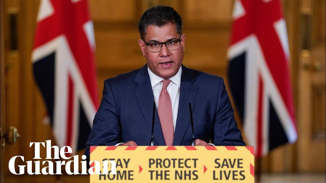 Coronavirus: business secretary Alok Sharma holds UK briefing – watch live