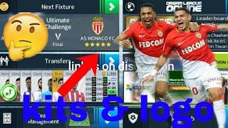 How to create AS Monaco FC Kits & Logo | Dream League Soccer 2018