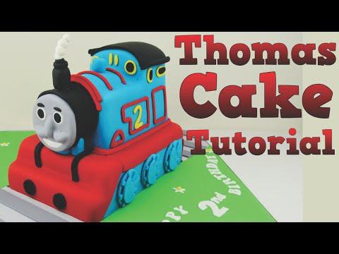 How to make a Thomas the Tank Engine birthday cake tutorial. Bake and Make with Angela Capeski