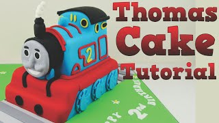 Repeat youtube video How to make a Thomas the Tank Engine birthday cake tutorial. Bake and Make with Angela Capeski