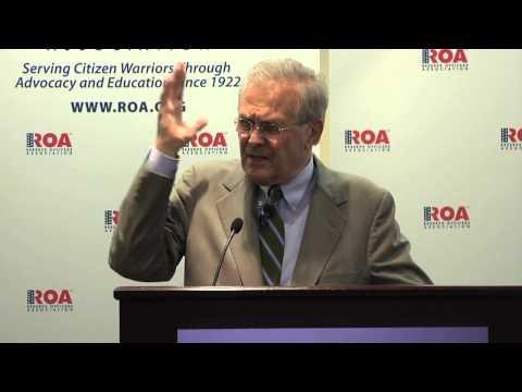 GW Veterans Campaign Hosts Donald Rumsfeld