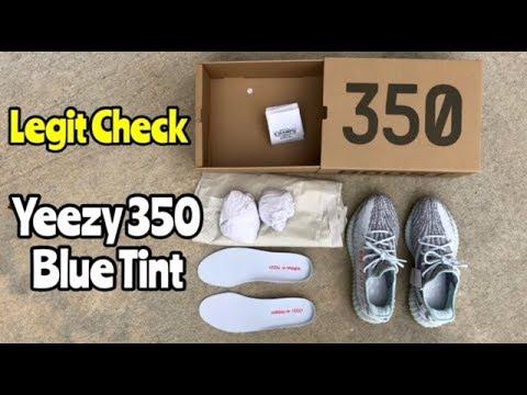 "d6841980 Yeezy 350 BOOST V2 ""Blue Tint"" legit check - YouTube"