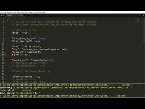 How to connect Sublime text via FTP