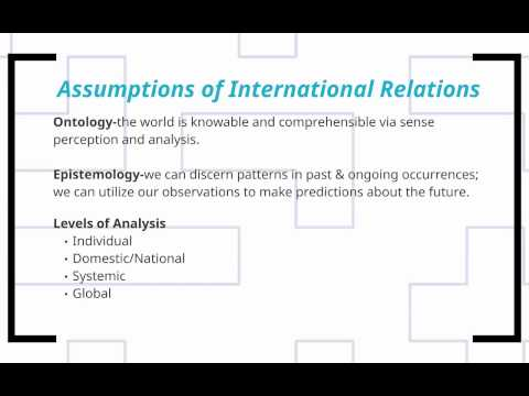 POS 273 Lecture 1: What is IR? Why Should you Care?